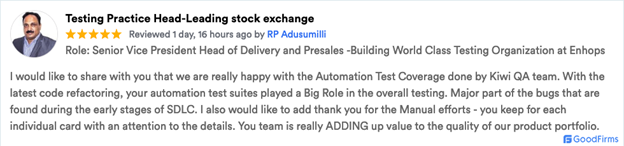 Goodfirms Review RP Adusmilli